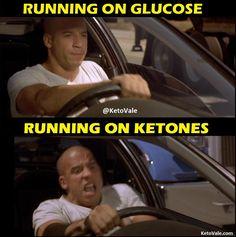 running on ketones