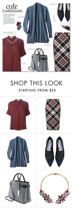 """""""Cardigan"""" by cly88 ❤ liked on Polyvore featuring MICHAEL Michael Kors, Alexander McQueen, TravelSmith, Michael Kors, Betsey Johnson and Tiffany & Co."""