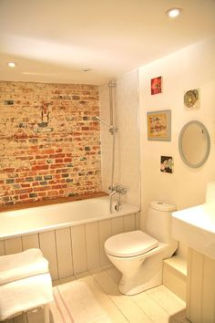 Exposed Brick In Bathroom. Not Quite Sure What My Vote Is On This But  Thought Part 71