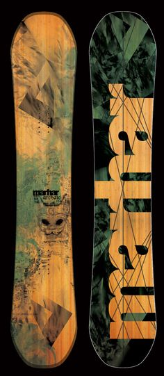 Marhar Snowboards, Archaic 161 - mens rocker camber mountain powder freestyle snowboard.  Handmade in Michigan, USA.