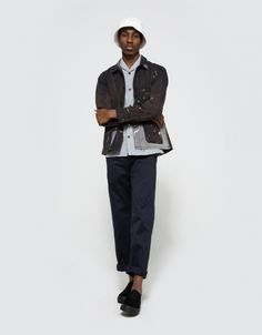 From Neighborhood, a lightweight button down in Gray. Features shawl collar, short sleeves, full button placket, contrasting brown buttons, left chest patch pocket, straight back yoke, branded patch tag at bottom left hem, small side slits, straight hem a