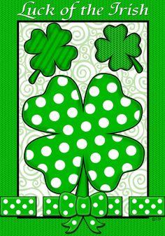 Custom Decor Flag - Luck of the Irish Decorative Flag at Garden House Flags