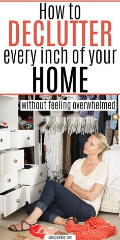 How To Declutter And Organize Your Home Quickly Without Feeling Overwhelmed. - - Decluttering your home is a big task. Learn how to declutter your home fast without feeling overwhelmed with these awesome hacks! Organizing Hacks, Home Organization Hacks, Organizing Your Home, Cleaning Hacks, Clutter Organization, Organising Tips, Cleaning Supplies, Tips And Tricks, Declutter Your Home