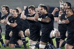 Haka! By the All Blacks Rugby Team,  New Zealand .......uhmm........those legs.....WOW.....................YA KNOW?