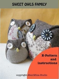 OWLS FAMILY E-PATTERN / TUTORIAL