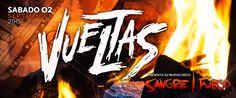 """VUELTAS llega a Niceto Club para presentar su nuevo disco de estudio titulado """"Sangre/Fuego""""   VUELTAS presentó su nuevo disco el pasado 07 de Julio en el Auditorio Oeste frente a más de 500 personas que disfrutaron de un show de casi dos horas donde se repasaron dieciocho temas del disco nuevo y de su álbum anterior.SANGRE/FUEGO contiene diez canciones inéditas y de su propia autoría donde recorren el ska punk y rock sin perder de vista las influencias latinoamericanas que marcan la…"""