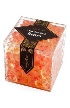 Delight friends and family alike with these effervescent, grown-up gummies, infused with the flavors of French champagne. Holiday Gift Guide, Holiday Gifts, Champagne Gummy Bears, Chocolates, Brunch, Bridal Shower Favors, Wedding Favors, Wedding Ideas, Alcoholic Drinks