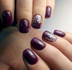 22 totally classy nail designs to rock this winter 2019 Best Picture For nails winter purple For You Classy Nails, Fancy Nails, Trendy Nails, Cute Nails, Sparkle Nails, Classy Nail Designs, Nail Art Designs, Nails Design, Pedicure Designs