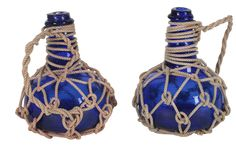 Cobalt blue and rope decanters from One Kings Lane. Gorgeous #nautical!