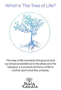 I like this The tree of life connects the ground and our physical existence to the skies and...