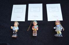 MINT-3pc-Studio-Hummel-Berta-Goebel-Ashton-Drake-Christmas-Ornaments-Set-9-COA