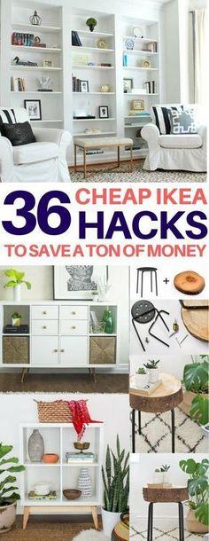 BRILLIANT Ikea hacks you have to see to believe! Cheap & easy ikea hacks, diy home decor, diy room decor, living room ideas, bedroom ideas, kitchen ideas #DIYHomeDecorIkea