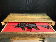 Secret Compartment Rifle Storage Table Furniture