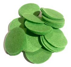 "1.5"" lime green felt circles / 25-50 pieces"