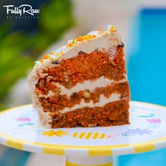 Raw vegan carrot cake! A perfect cake to make for any special occasion, birthday, or sunny day! Enjoy with family and friends! http://youtu.be/uLB4H-t4vvk