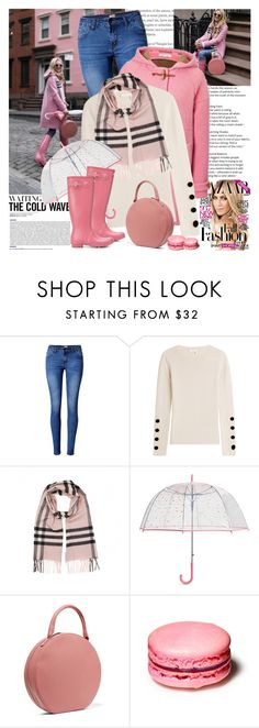 """""""Hey, Girl: Pretty Pink Coats"""" by martinabb ❤ liked on Polyvore featuring WithChic, Paul & Joe, See by Chloé, Burberry, Vera Bradley, Hunter, Mansur Gavriel and pinkcoats"""