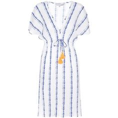 Heidi Klein Striped Cotton Dress (€335) ❤ liked on Polyvore featuring dresses, white, striped cotton dress, white dress, white stripe dress, white striped dress and striped dress