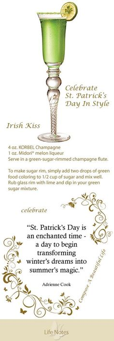 Celebrate St. Patrick's Day with an Irish Kiss green: