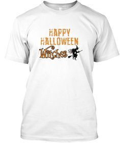 Happy Halloween Witches T Shirt White T-Shirt Front
