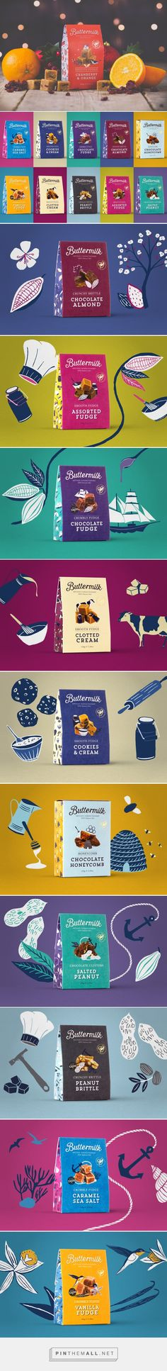 Buttermilk Confectionery on Packaging of the World - Creative Package Design Gallery - created via https://pinthemall.net