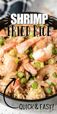 Frozen Cooked Shrimp, Shrimp And Rice Recipes, Easy Rice Recipes, Seafood Recipes, Cooking Recipes, Seafood Dishes, Yummy Recipes, Recipies, Fried Rice Recipe Chinese