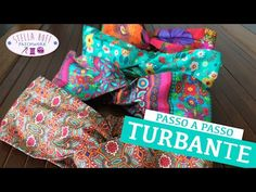 Turbante - Como fazer Turbantes em produção - YouTube Bandanas, Teen Sewing Projects, Scrunchies, Baby Headbands, Diy For Kids, Hair Bows, Diy And Crafts, Patches, Make It Yourself