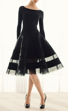 dress by Donna Karan... reminds me of vintage Dior