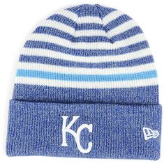 5625914d9a3 New Era Kansas City Royals Striped Cuff Knit Hat Knit Hat For Men