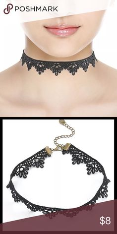 Trending Sexy Black Lace Choker Trending Sexy Black Lace Choker  Your orders are a blessing and I'm grateful for your business! Thanks for stopping by! Feel free to leave me a comment so that I can check out closet too:) Jewelry Necklaces