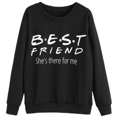 Letter Printed Drop Shoulder Sweatshirt Black S ($20) ❤ liked on Polyvore featuring tops, hoodies, sweatshirts, initial sweatshirt, drop shoulder sweatshirt and drop shoulder tops
