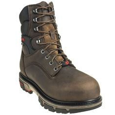 Wolverine Boots Men's 10619 Insulated Waterproof Safety Toe EH Brown 8
