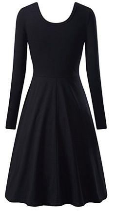 msbasic-women-simple-designed-long-sleeve-round-neck-casual-flared-midi-dress