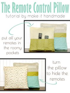 Make It Handmade: The Remote Control Pillow