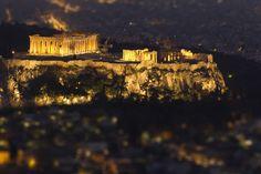 Parthenon at night, Acropolis, Athens