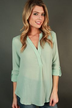 A Gentle Heart Shift Top In Mint