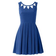 Louche London: Echo Cut Out Dress Blue, at 49% off!