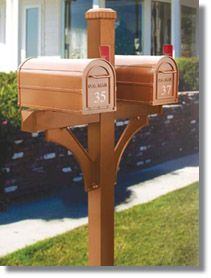 Wooden Post For Two Mail Boxes 4870 Deluxe 1 Sided Mailbox Posts