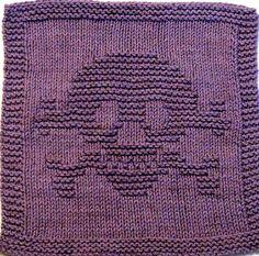 All sizes | Knitting Cloth Pattern - Skull and Cross Bones | Flickr - Photo Sharing!
