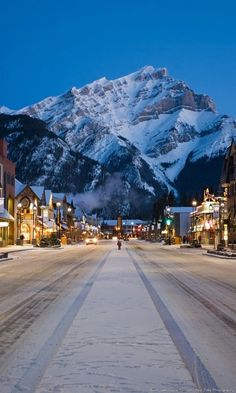 Cascade Mountain perfect backdrop for Banff, Alberta Canada the picturesque alpine ski town nestle in the Canadian Rockies Alberta Canada, Banff Alberta, Ski Canada, Banff Canada, Canada Travel, Canada Snow, Canada Trip, Western Canada, Montreal Canada