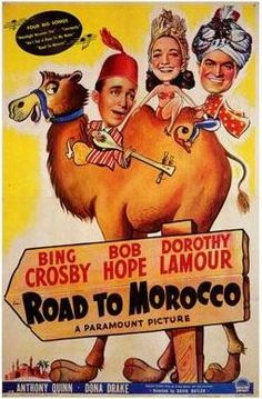 Bob Hope and Bing Crosby movies boosted morale during those 1940's days of war.