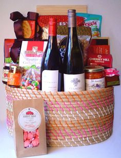 Holiday Gift Baskets, Wine Gift Baskets, Coffee Baskets, Holiday Gifts, Baby Shower Gift Basket, Baby Shower Gifts, Baby Gifts, Golf Drawing, Farming In Canada