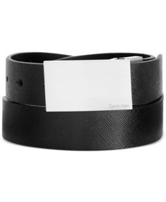 CALVIN KLEIN Calvin Klein 32mm Saffiano Plaque Reversible Dress Belt. #calvinklein # belts