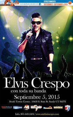 Elvis Crespo en Utah  http://www.elperiodicodeutah.com/2015/09/noticias/noticias-locales-utah/elvis-crespo-en-utah/
