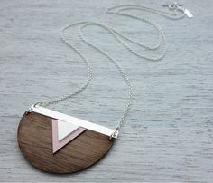 Groenland collier, collier de déclaration géométrique, design scandinave