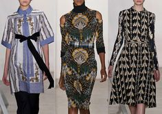 Suno A/W 2013-  Folk Borders – Art Nouveau References - Stylized Repeats - Medieval Tapestry Patterns