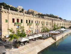 Plenty of cafes and restaurants at Valletta waterfront - #Malta, only a hop, skip, and a jump from our holiday accommodation. #vallettaGhouse