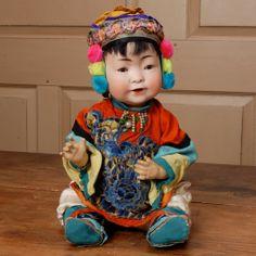 "17"" All Original J. D. Kestner Asian Baby  Becky's Back Room  Exclusive to Ruby Lane"