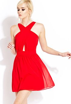 Iconic Fit & Flare Dress | FOREVER21 - 2000129462