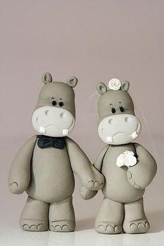 hippo cake toppers... too cute <3