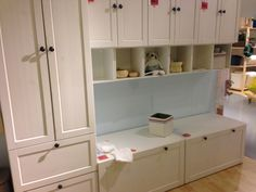 Ikea Stuva with Betsad doors and drawers. Matches the Ikea Sundvik range nicely.